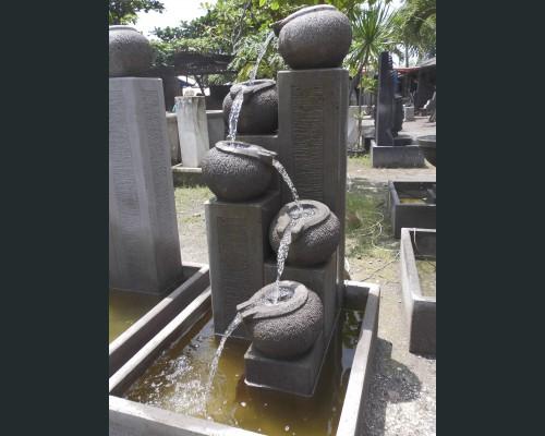 Fontaine de jardin cinq bols