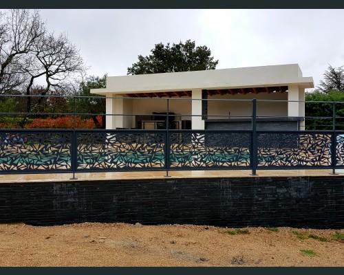 Garde corps de piscine