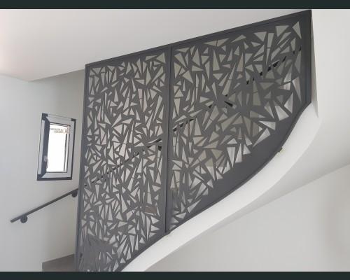 Rampe d escalier claustra laser
