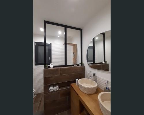 Verriére salle de bain